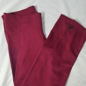 NWT Maroon Adidas Climalite Mesh Leggings Medium